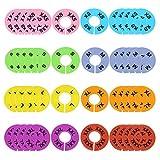 Onepine 40 Piezas 8 Colores Divisores del tamaño de la Ropa para colgadores Redondos, Armarios XXS-XXXL Separadores del tamaño de la Ropa