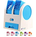 #10: Meya Happy USB/Battery Powered 5 Inch Height Water Air Cooler with Double Blades For Indoor/Outdoor Use
