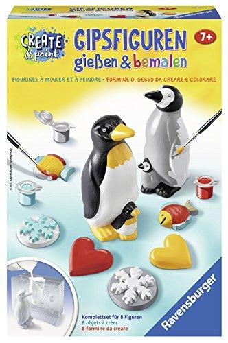 """Ravensburger 28523 - Create & Paint Gipsfiguren """"Pinguin"""""""