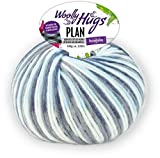 Woolly Hugs Plan Fb. 84, 100g Merinowolle extrafein mit Baumwolle zum Stricken und Häkeln, geeigent für planned pooling Technik