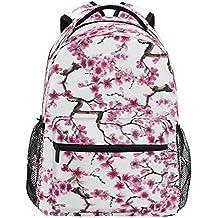ZZKKO Mochilas de cerezo japonés, para escuela, libros, viajes, senderismo, acampada
