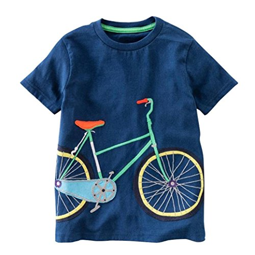 (JERFER Kleinkind Kinder Baby Jungen Mädchen Kleidung Kurzarm Cartoon Tops T-Shirt Bluse)