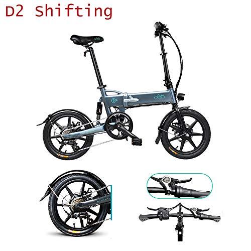 Fiido d2s bicicletta elettrica pieghevole per adulti, cambio bici elettrica, motore da 250 watt, scooter elettrico da 16 pollici, bicicletta elettrica pieghevole da 7,8 ah con luce a led