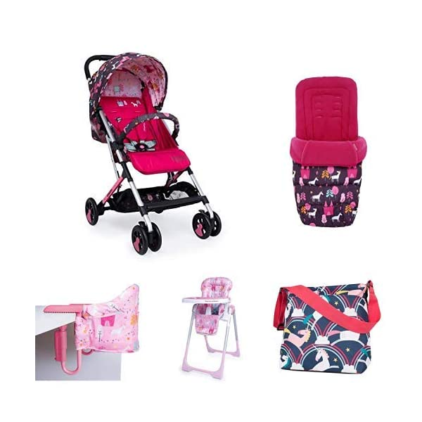 Cosatto Unicorn Land Matching Bundle Set Cosatto Suitable from birth to max weight of 25kg, lets your toddler use it for even longer Custom-crafted to fit your pushchair ideally Make a Change with our changing bag 1