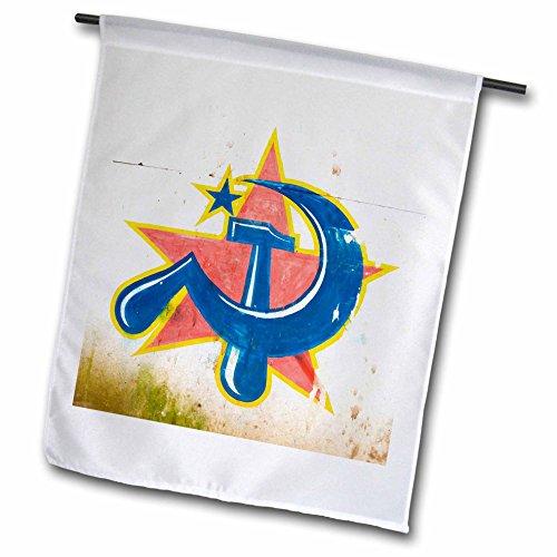 3drose FL _ 71315_ 1Symbol der kommunistischen Partei Kochi-Kerala Indien AS10ksu0315Keren Su Garten Flagge, 12von 18 (Indien Flagge T-shirt)