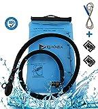 Luamex® Trinkblase - Outdoor - 2L Wasserblase - BPA frei - Trinkbeutel - Trinksystem mit On/Off Ventil, isolierter Trinkschlauch - Wasserbeutel - für Trinkrucksack, Radfahren, Wandern, Camping