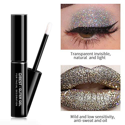 ngratyhJohn Transparent Glitter Eye Shadow Fix Glue DIY Fast Dry Adhesive Gel Makeup Tool As Picture Show