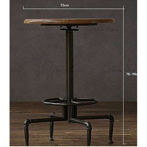 Vintage cafe de hierro forjado mesas y sillas y mesas de bar al aire libre y sillas casual Balcony Suite mesa de café de madera sólida combinación,tabla