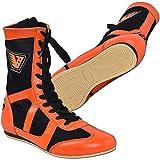 Velo , Herren Boxschuhe Schwarz Orange, Schwarz - Orange - Größe: 43