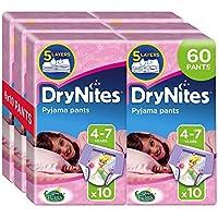 Huggies DryNites Mädchen Unterhosen (hochabsorbierend 4-7 Jahre), 2 x 3er Pack (6 x 10 Stück)