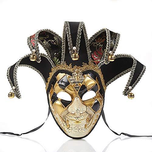 Story of life Herren Maskerade Maske Musical Party Glocken Mardi Gras Party Venedig Prinzessin Halloween,Black