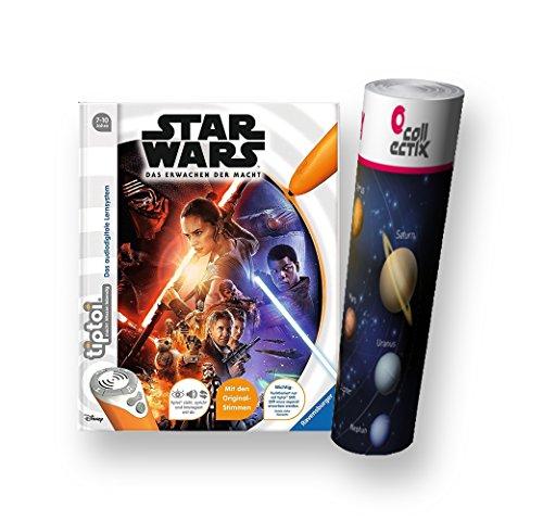 tiptoi Ravensburger Buch - Star Wars  Episode 7 - Das Erwachen der Macht + Weltraum-Kinder-Poster by Collectix