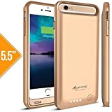 Alpatronix iPhone 6S Plus/iPhone 6 Plus Battery Case, BX140plus (5.5-inch) 4000mAh Rechargeable Protective External Portable Charging Case for iPhone 6S+ 6+ [MFi Certified, iOS 10+ Support] -Gold
