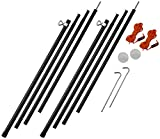 Vango    Outdoor Adjustable Pole Set available in Black - Size 180 - 220 cm