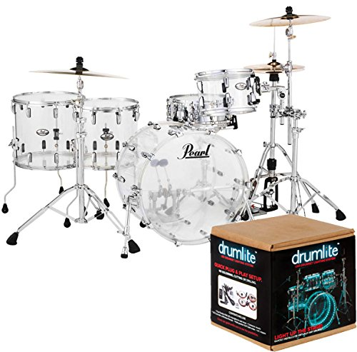 pearl-crb524fp-c730-crystal-beat-fusion-shell-set-acrylic-drum-lite-dlk2d-lighting-kit