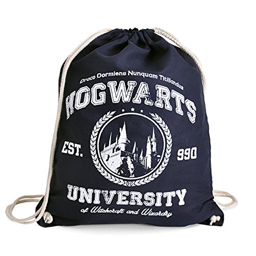 Magic-University-Sportbag-Turnbeutel-fr-Harry-Potter-Fans-Elbenwald-blau