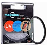 Maxsima Filtre de protection UV 58 mm pour Canon 100D 700D 1200D avec 18–55 mm également pour objectif de 18–55 mm STM.