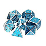 DyNamic Dadi Multisided Solido Metallo Heavy Dice Set Polyhedral Dices Ruolo Giochi Dadi Gadget Rpg