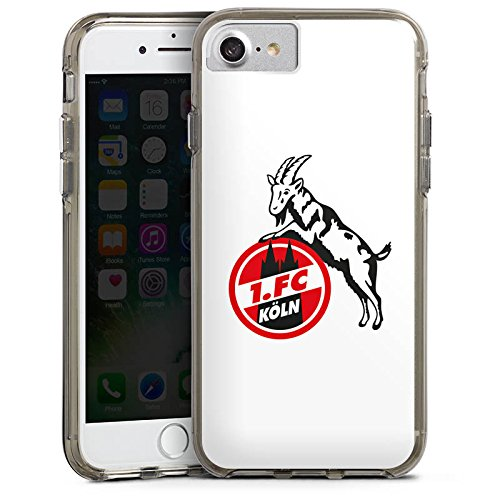 Apple iPhone 7 Plus Bumper Hülle Bumper Case Schutzhülle 1. FC Köln Fanartikel Fußball Bumper Case transparent grau
