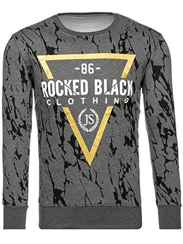 BOLF Herren Sweatshirt Langarmshirt Modern JSTYLE DD15 Dunkelgrau M [1A1] |