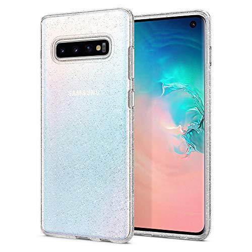Spigen Liquid Crystal Glitter Kompatibel Mit Samsung Galaxy S10 Hülle, Glitzer Design Transparent TPU Silikon Handyhülle Durchsichtige Schutzhülle Case - Crystal Quartz Glitter-crystal Design
