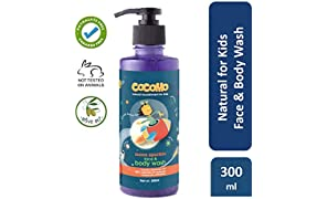 Cocomo Natural, Sulphate and Paraben Free Face & Body Wash for Kids - Moon Sparkle 300ml (Age: 4 yrs and above)