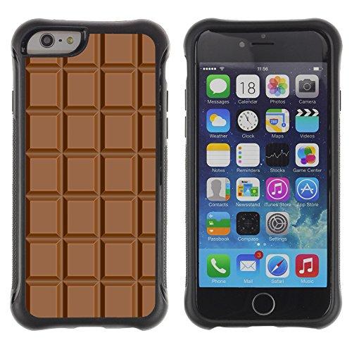 Graphic4You Praline Bar Schokolade Design Shockproof Anti-Rutsch Weichen Hülle Case Tasche Schutzhülle für Apple iPhone 6 Plus / 6S Plus Design #3