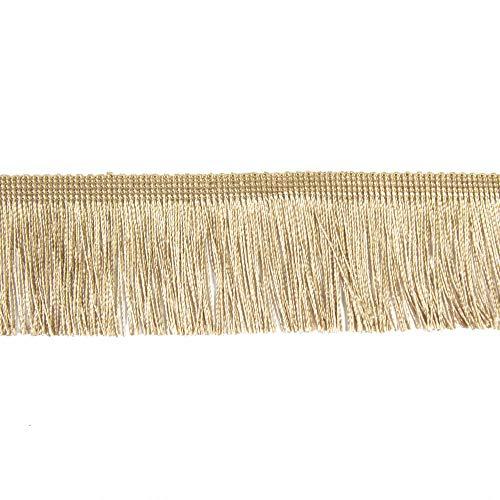 Fransen Fransenborte 5 cm breit beige Borte Accessoires Karneval Dekorationen - Preis gilt für 1 m