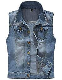 fb4ed1898236 Jeansweste Herren Rmellos Jeansjacke Retro Cowboy Jungen Freizeit Denim  Weste Frühling Herbst Mode Slim Fit Jeans
