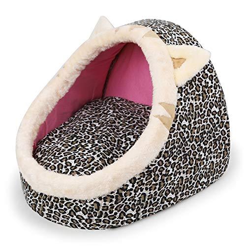 XGPT Cartoon-Tierform Hausschuhe Nest Soft Washable Dog Warm Basket Basket Bed Kissen,B,S