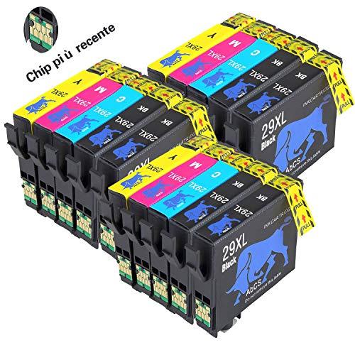 Abcs printing 29 XL Compatibili Cartucce Epson 29XL 29 per Epson XP-352 XP-452 XP-455 XP-335 XP-342 XP-442 XP-245 XP-432 XP-345 XP-247 XP-235 XP-255 XP-257,6 Nero,3 Ciano,3 Magenta,3 Giallo