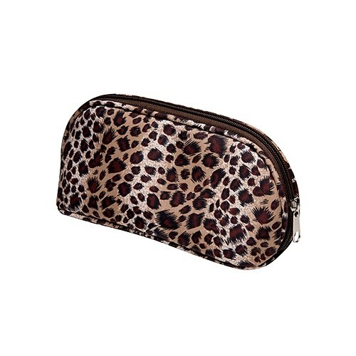Trousse de maquillage de voyage imprimé léopard