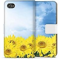 Sony Xperia Z5 Compact Tasche Leder Flip Case Hülle Sonnenblumen Himmel Sonne