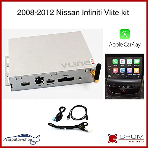 Nissan Infiniti 2008-2012 VLite CarPlay iPhone Android Smartphone Mirroring, Bluetooth, Rückfahrkamera Kit (NIS8) (Für Pathfinder Nissan Stereo 2008)