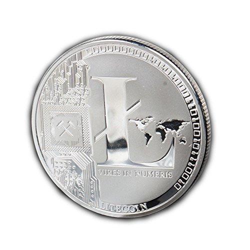 TS Trade Litecoin Coin Gedenkmünzen Gold Silber Plated Collection Physisches Geschenk