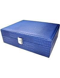 SJ FHRR Azul Joyero Anillo Joyas, Joyas Caja de almacenaje Almacenamiento de Maquillaje
