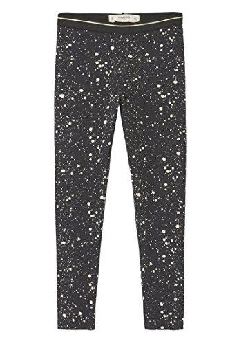 MANGO KIDS - Leggings coton Pantalon imprimés - Taille:9-10 ans - Couleur:Noir