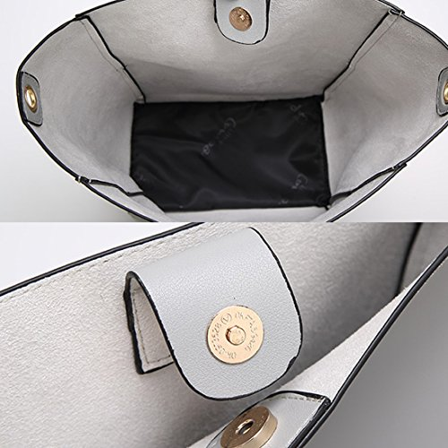 YYWFaux Leather Tote Bag - Borsa tote grande Donna Blue