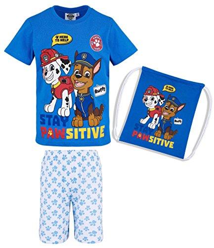 Paw Patrol Jungen Shorty-Pyjama mit Beutel - blau - 104