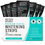 Teeth Whitening Strips with Activated Charcoal - 28 Peroxide Free Teeth Whitening Strips (14 Upper + 14 Lower) - Fast-Acting Teeth Whitening Kit Formulated by UK Dentists for Pro Teeth Whitening Co.