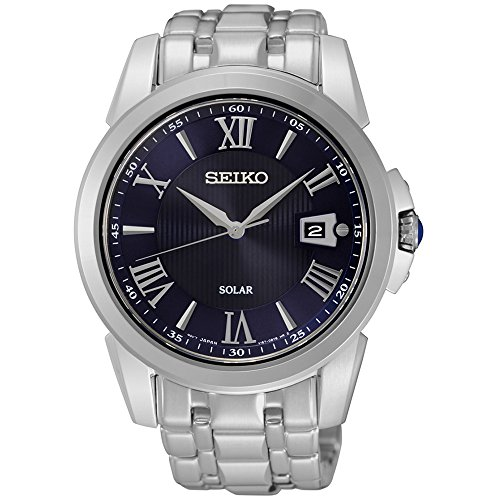 Seiko SNE395 Men's Le Grand Sport Silver Bracelet Band Black Dial Watch (Seiko Le Grande Sport)