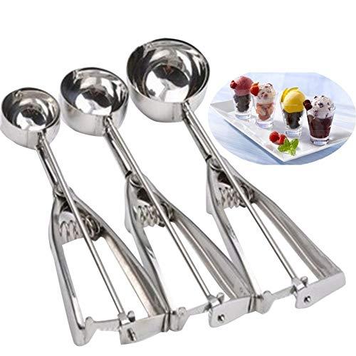 Eisportionierer aus Metall für Kekse, Teig, Muffin, Löffel, Küche Größe S