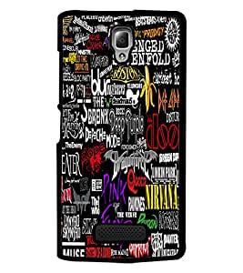 PrintDhaba Typography D-4588 Back Case Cover for LENOVO A2010 (Multi-Coloured)