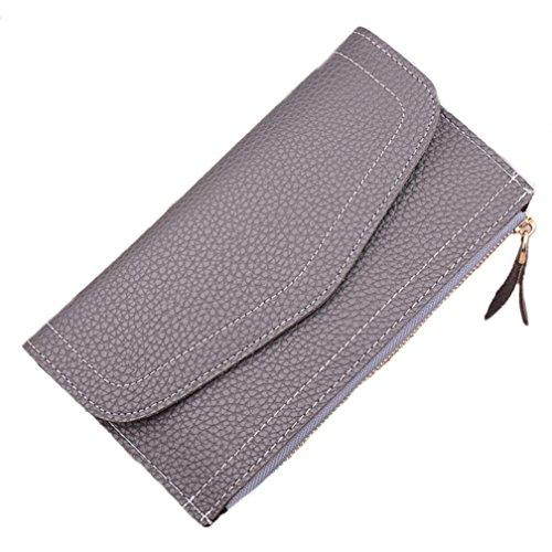 Portafoglio Donna, Tpulling Portafogli in pelle chiusura lampo di modo della borsa della frizione della signora Long della borsa (E) C