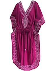 robes caftan couvrir beachwear maxi tunique brodée longue bikini kimono l-4x