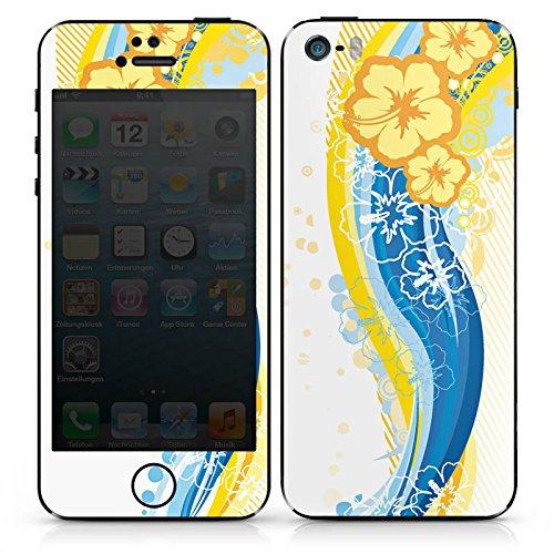 Apple iPhone SE Case Skin Sticker aus Vinyl-Folie Aufkleber Blumen Regenbogen Frühling DesignSkins® glänzend