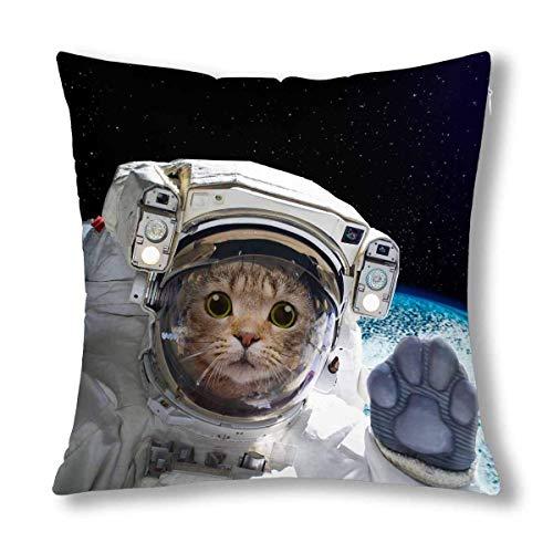 Kinhevao Divertido Gato Astronauta en la decoración del Espacio Throw