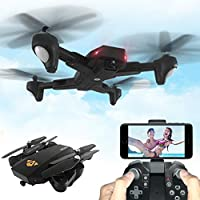 RC Quadcopter Drone, VISUO XS809HW RC Quadcopter Wifi FPV Foldable Selfie Drone 2MP 3 Battery Drone Helicopter - Compare prices on radiocontrollers.eu