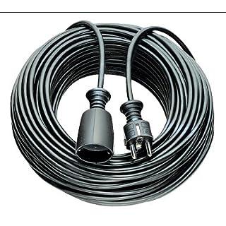 Asein Verlängerungskabel-Kabel Schlauch 5m h05vv-f3g1. 5schwarz