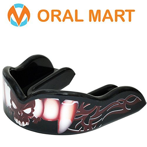 Oral Mart Charmante Vampire Mundschutz - individuelles Design Sport Mundstück für Boxen (mit freier Fall) One Size